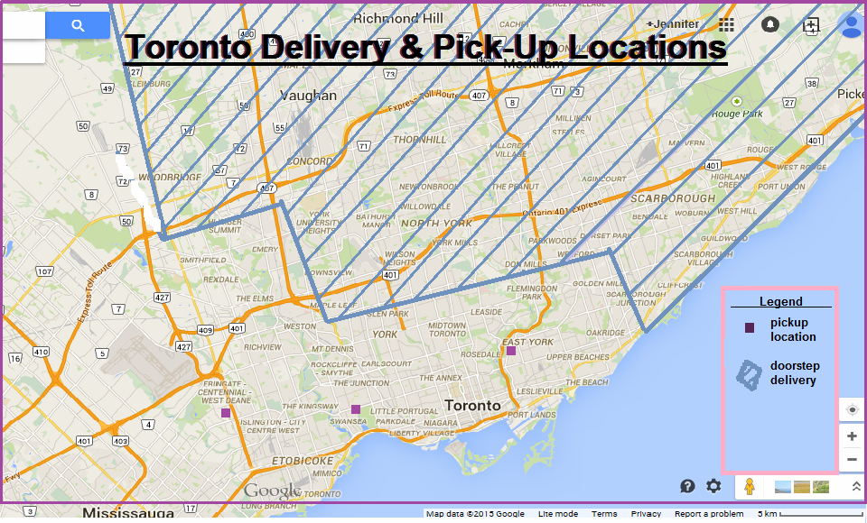 Toronto Delivery Map 2